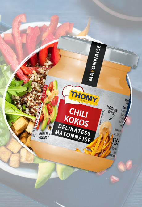 THOMY Delikatess Mayonnaise Chili Kokos Glas
