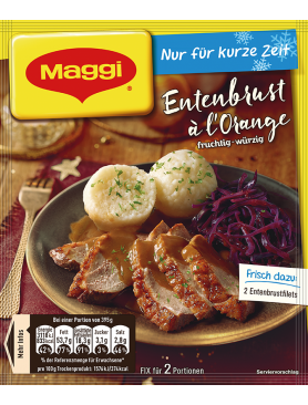 Maggi Fix für Entenbrust à l´Orange