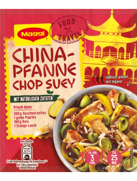 Maggi Food Travel Fix für China-Pfanne Chop Suey